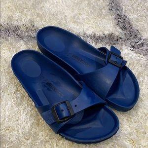 Birkenstock, navy blue, sandals